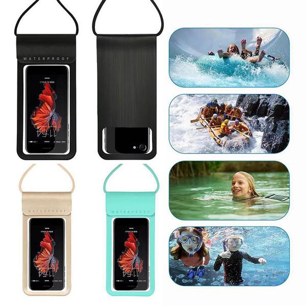Moda Diving Touch Screen Ao Ar Livre À Prova D 'Água Do Telefone Móvel Saco À Prova D' Água Casos de Telefone Móvel Para Samsung Livre DHL
