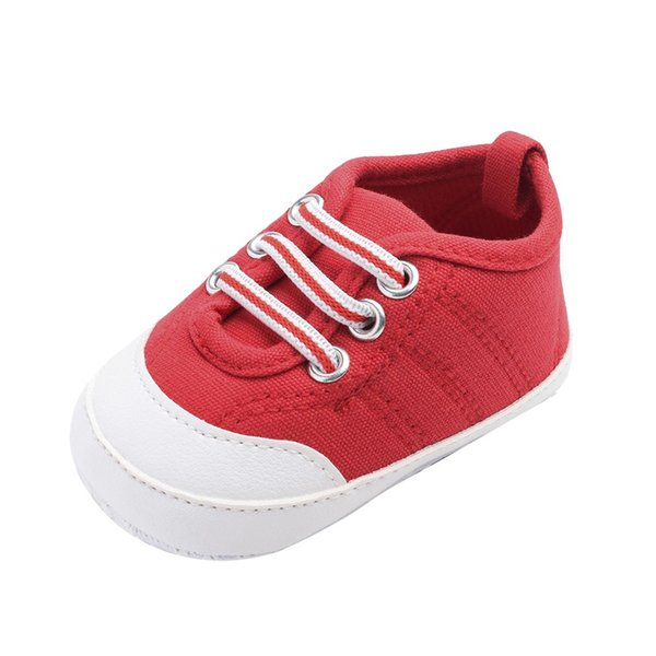 Spring Baby Elastic Band Soft Bottom Solid Color Canvas Shoes Toddler Shoes chaussures femme Zapatos De Mujer