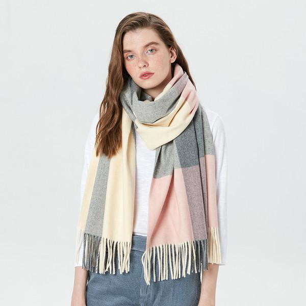 Ladies Black White Stripe Tassel Chunky Winter Scarf Scarves Shawl Wrap Gift