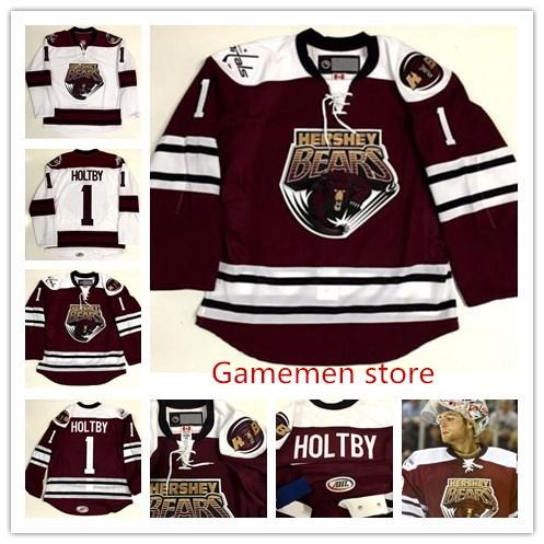 timeless design 3093e 659f8 Washington Capitals Customize Men women youth AHL Hershey Bears 1 Brayden  Holtby Jersey Premier personalized any name any number jersey