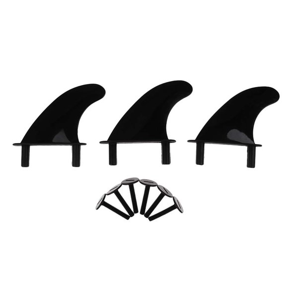 6Pcs Plastic Soft Top Surf Fin & 12 Fins Screws for Surfboard Softboard and SUP Stand Up Paddle Board
