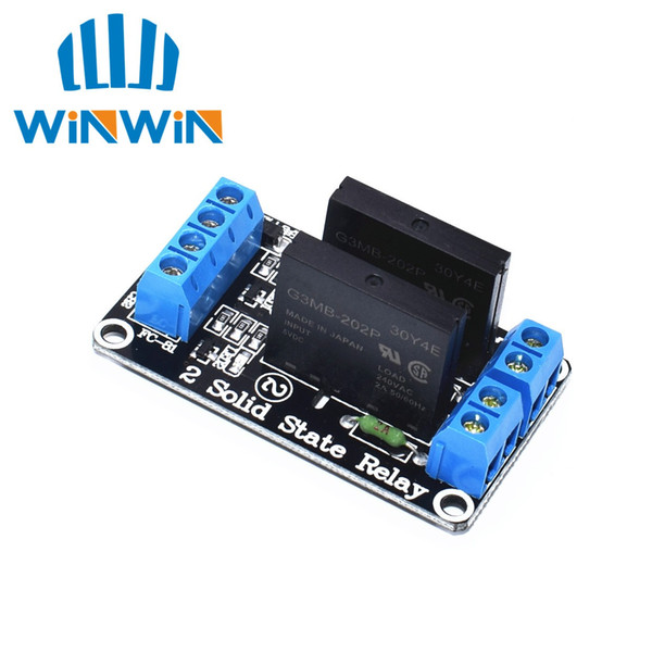 H53 10PCS 5V 2 Channel SSR low Level Solid State Relay Module 240V 2A freeshipping