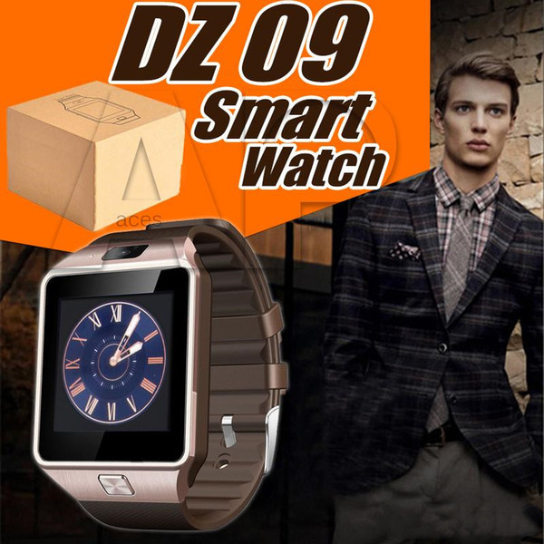 Smartwatch DZ09 Smart Watch Phone Camera SIM Card For Android IOS Phones Intelligent Mobile Phone Watches Can Record Sleep State