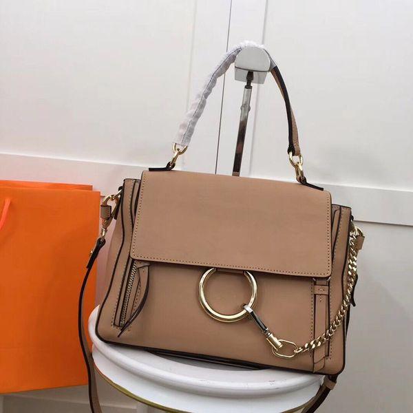 top popular Luxury 5A Top quality Lady Suede Chain Handbag Circle Ring Shoulder Bags Women Flap Chain Crossbody Bag Designer Handbags Messenger Purse 2019