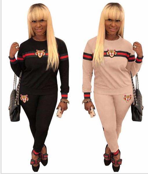 Roupas femininas Conjuntos de Duas Peças 2 peça mulher set mulheres ternos de suor Plus Size Jogging Esporte Terno Macio de Manga Longa Treino Sportswear S -3xl