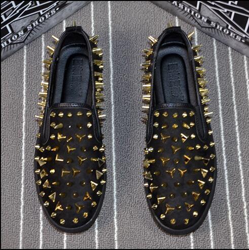 Moda de borracha Bottom High Top Mulheres, Homens Sapatos Spikes Sapatilhas Sapatos, Rebites De Luxo Plana Sapatos de Caminhada, vestido de Festa sapatos 38-44 n94