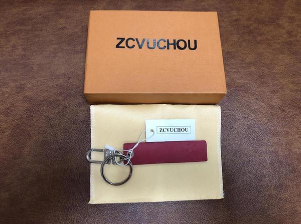 Élégant Rectangle Porte-clés En Cuir Noir En Alliage de Zinc Porte-clés De Voiture Porte-clés Fer À Cheval Boucle De Luxe Cadeaux Personnalisé