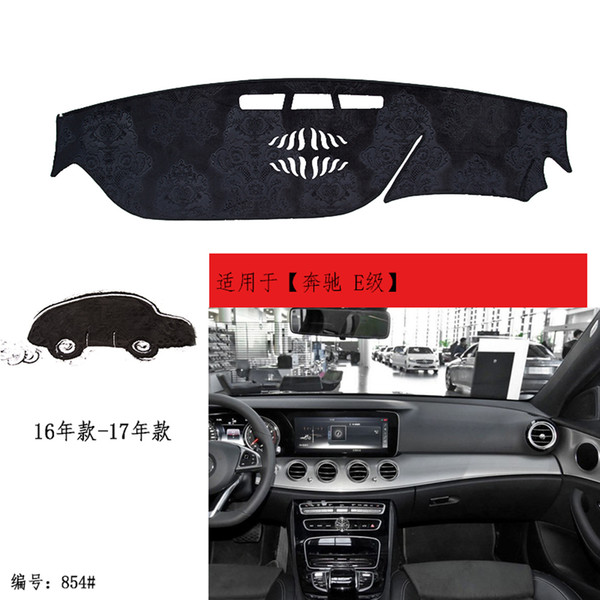 2017-2019 Benz E-Klasse E200 E200L E300 E300L E320L E350 E43 E63 S Lederauto DashMat Armaturenbrett Dash Cover Pad Matten matt