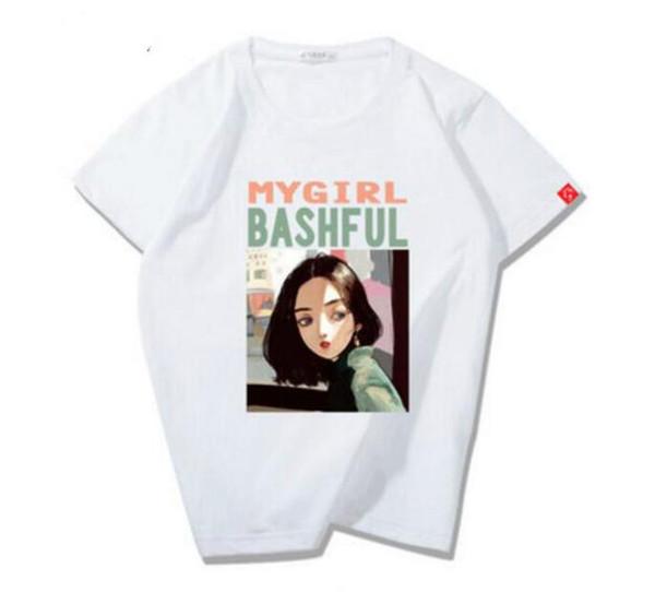 Sıcak satmak Yaz Rahat Pamuk Kısa Kollu Kadın T Shirt Mektup Baskı Tasarım T Shirt bayanlar giyim bayan Tees Tops