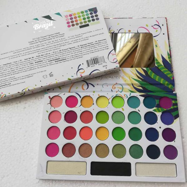 35 couleurs Palette de fards à paupières RETIREZ-MOI AU BRÉSIL Palette de fards à paupières Set Hot New Arrival Eye Cosmetics Beauté