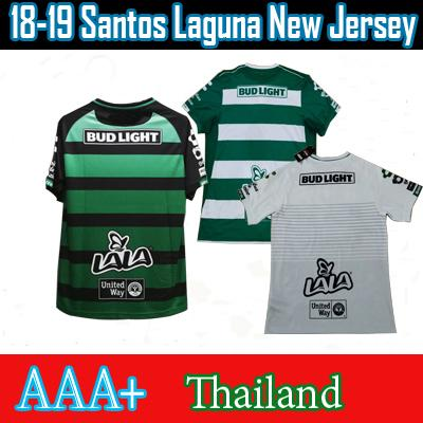 2018 2019 Mexico Liga MX Club Santos Laguna Home Away Second Away Thailand Soccer Jerseys Footbal Shs