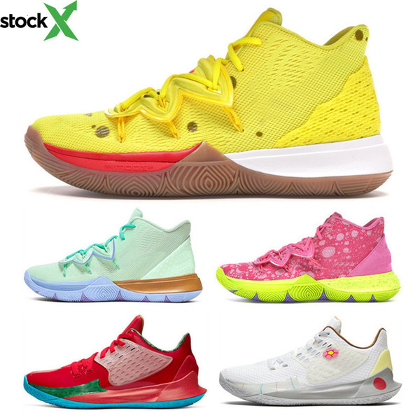 top popular 2020 High Quality Kyrie 5 Sponge Squidward Men Jordon basketball Shoes 5s Sandy Cheeks Mr Krabs Patrick Sports Sneakers Size 40-46 2020
