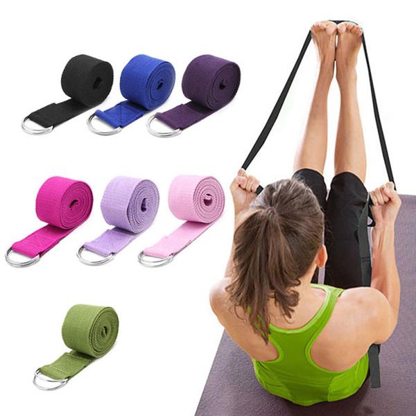Femmes Yoga Courroie Stretch Multi-Couleurs D-Ring Ceinture Fitness Exercice Gym Corde Figure Taille Résistance De La Jambe Bandes Fitness Ceinture De Yoga