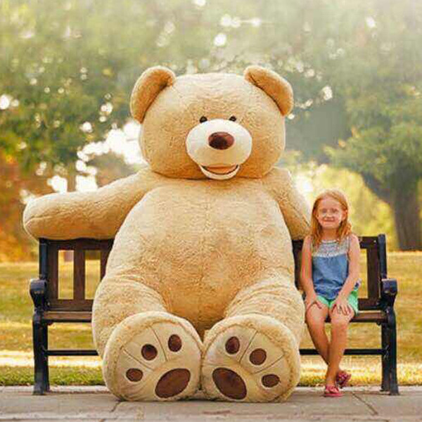 [TOP] 340cm America bear Stuffed animal teddy bear cover plush soft toy doll pillow cover(without stuff) kids baby adult gift