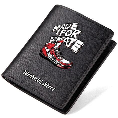 Skate wallet Made for short long purse Wonderful shoe leather cash note case Money notecase Loose burse bag Card holders