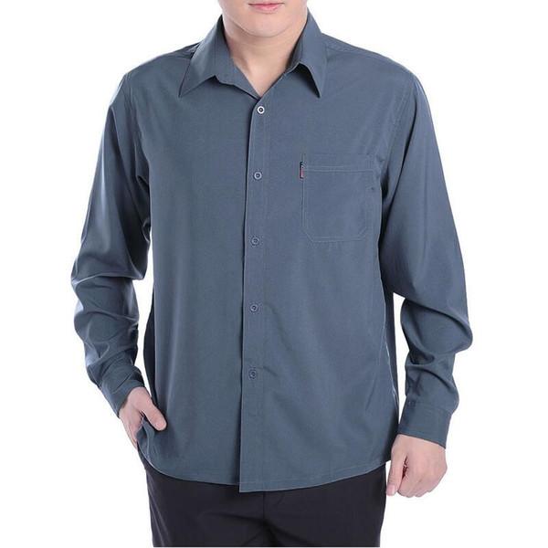 new 2018 fashion autumn summer men plus size clothing long sleeve shirt slim fit stylih dress shirts man M, L ,XL ,XXL ,3XL #503798
