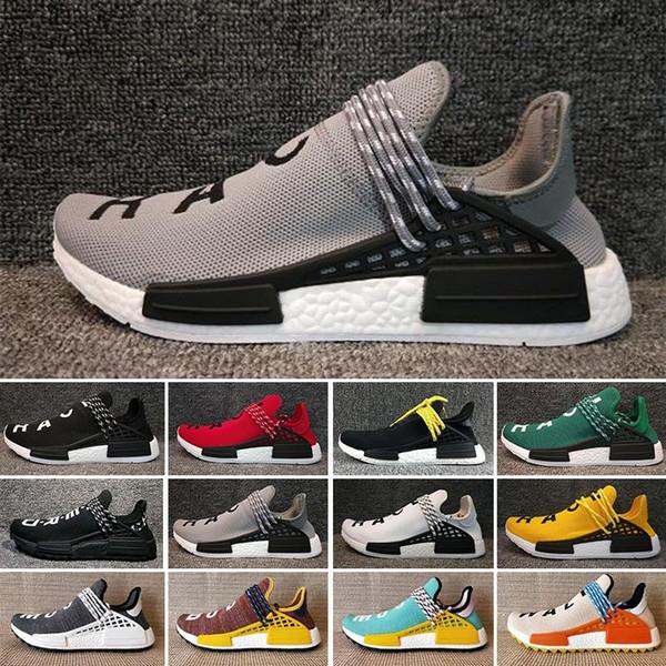 2019 İnsan Yarışı Pharrell Williams Hu iz NERD Erkekler Kadınlar Koşu Ayakkabıları Ile XR1 Siyah Nerd Tasarımcı Sneakers Spor Ayakkabı Kutusu