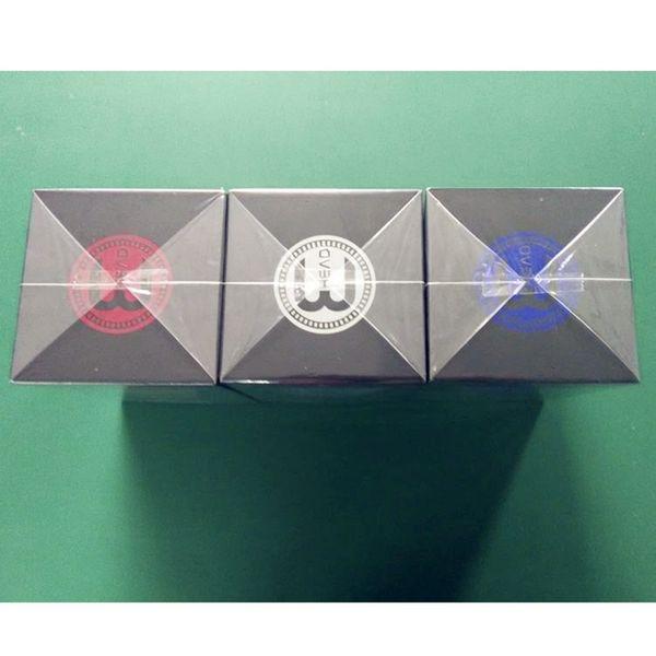 Top Quality Square E Head Ehead 2400mAh Cartridge Refillable disposable Hookah Rechargeable E-Head Vaporizer ECig Kit DHL Free Shipping