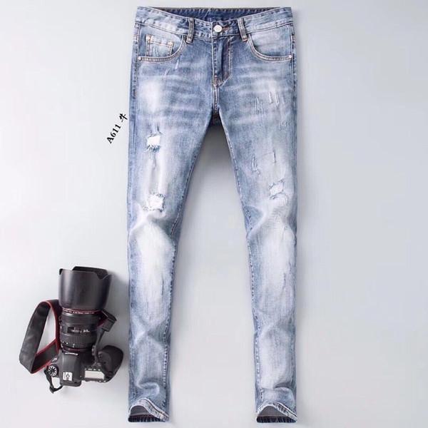 Jeans Fashion Herren Füße Jeans Taille Inlay Silber Design Daren Design Herren Casual Jeans