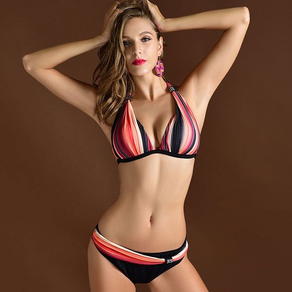 Women Swimwear Bikini Sexy Biquinis Two Pieces Swimming Suit Lady Swimsuit Padded bra Bikinis Top Qualitly Bathing Suit Big Size Biquini