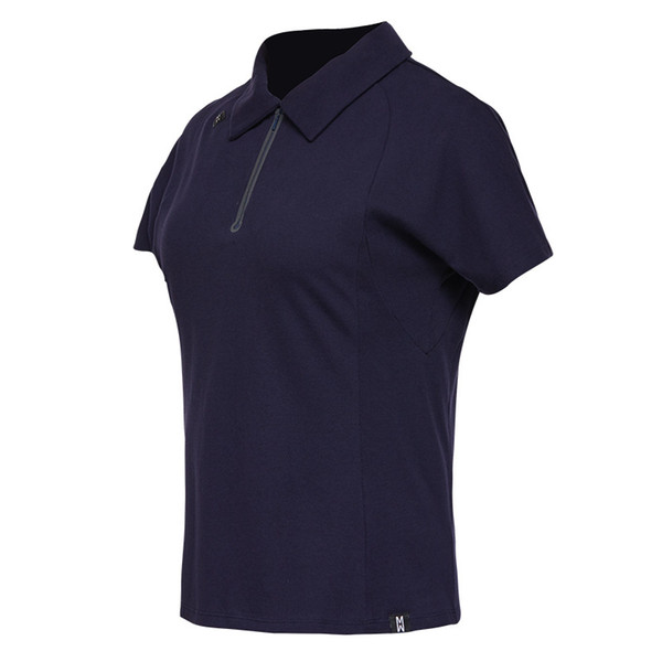 Women's Half Zipper Golf Polo Shirts Short Sleeve Cotton Breathable Outdoor Workout Tennis Golf Jerseys Sports Tops