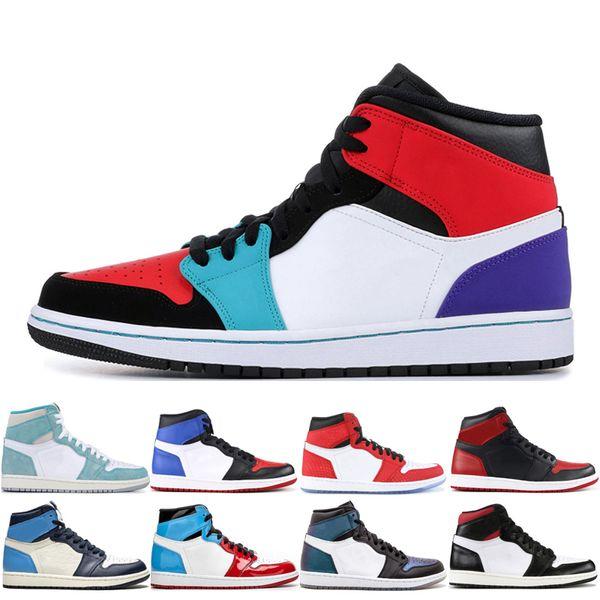 Top 1 OG High Multi-Color Männer Basketball-Schuhe 1s UNC Obsidian Gym Red Frauen Sport Outdoor-Mode Yellow Toe Pine Green Trainer Turnschuhe