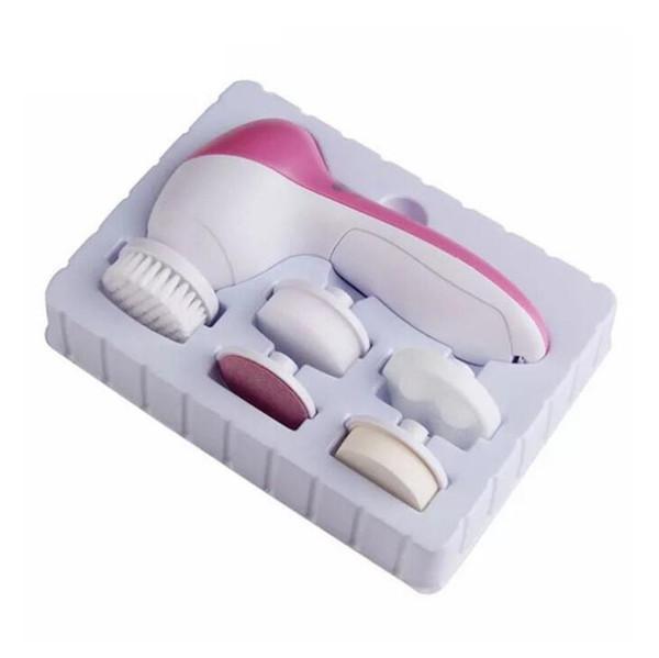 Nouveau 5 en 1 Lavage Électrique Face Machine Face Pores Acné Nettoyant Corps Nettoyage Massage Mini Peau Beauté Massager Brosse