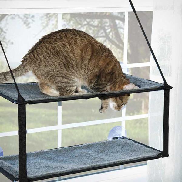 Кошка гамак может разобрать и мыть супер присоски кошка коврик подоконник спальные кровати товары для животных для