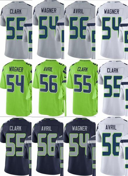 purchase cheap 55cf8 d6126 2019 Seattle Seahawks Custom Men/Youth/Women #54 Bobby Wagner 55 Frank  Clark 56 Cliff Avril Vapor Untouchable Limited/Rush/Elite Jerseys From ...