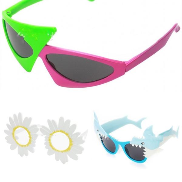 e9f0c9f553cd Color Collision Sunglasses Sun Flower Eyeglass Shark Party Eyewear Man Women  Creative Bardian Plastic Take Photo Decor 7lj D1