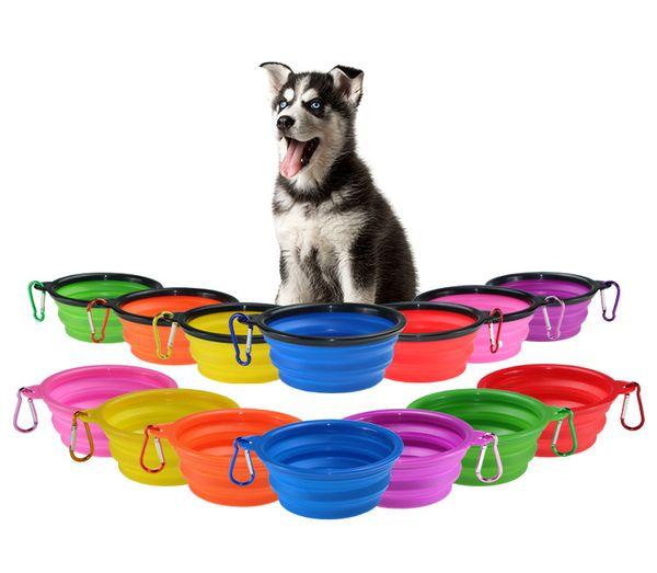 Sıcak Katlanır Silikon Köpek Kase Kıyafet Küçük Mudium Köpek Besleyici Eşyaları Için Taşınabilir Seyahat Kase Pet Köpek Aksesuarları UPS Ücretsiz nakliye