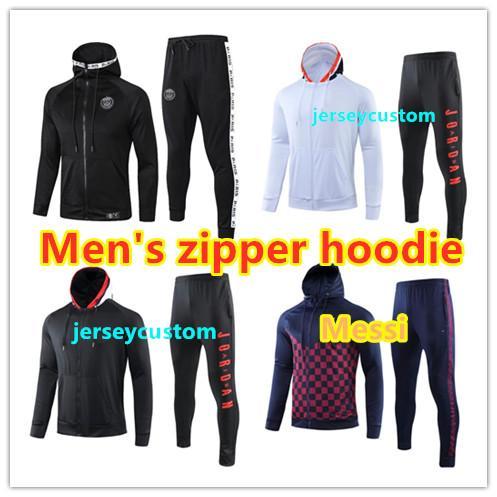 2019 2020 di calcio di formazione giacca tuta con cappuccio Survêtement 19/20 Mbappe TUTA giacca calcio Jordam aria di calcio