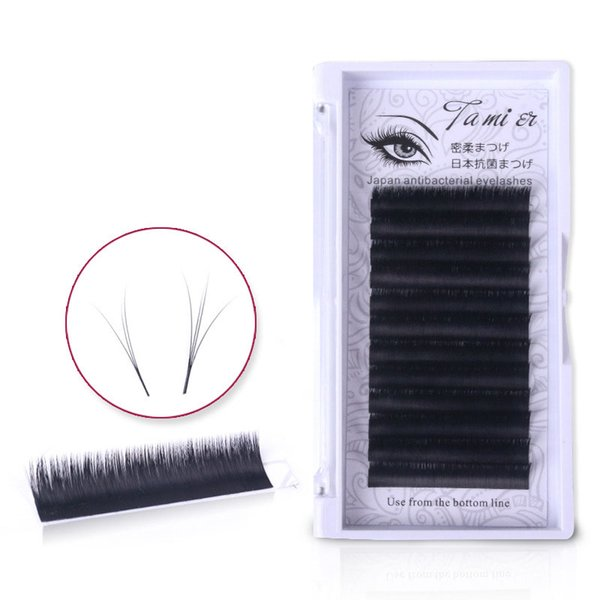 12 Rows False Eyelash Set Bloom to Bunch in One Second Curl BCDJ Individual Eyelash Extension Soft Natural Single Grafting False Eyelash