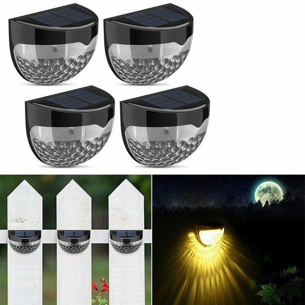 Solar Step Light Outdoor Garden Lighting 6 LED Beads Security Wall Lamp Fence Stair Deck Path Lights for Home Decor MMA1351