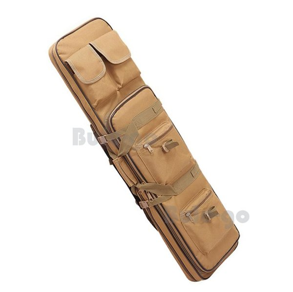 100cm Tactical Rifle Bag Dual Heavy Duty Gun Case Backpack For Hunting Military Airsoft Tan #781087