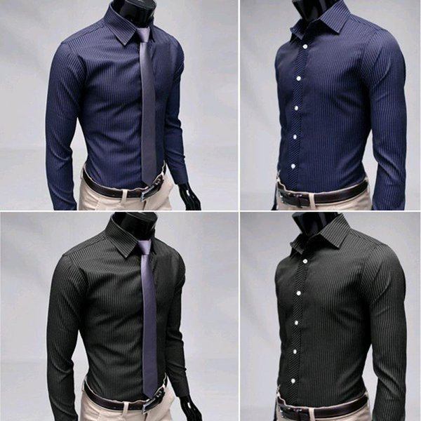 Compre Camisas Para Hombre Ropa Casual De Marca Slim Fit Hemd Camisas Para Hombre Vestir Masculina Chemise Homme Vetement Homme A 1409 Del Winen