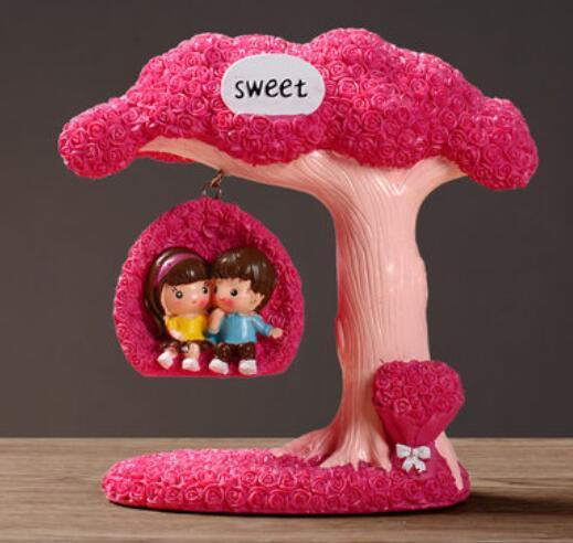 Creative small ornaments home accessories living room wine cabinet modern new house decorations wedding gifts couple dolls