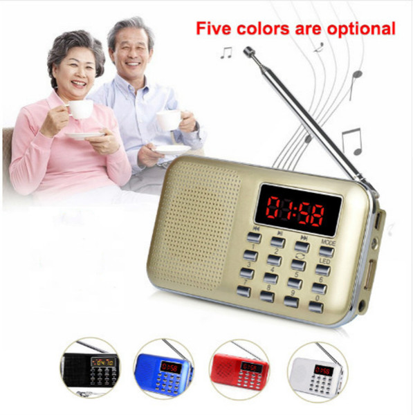 best selling Mini L-218 Digital LCD MP3 Radio Speaker Player Support TF Card USB with LED Flashlight Portable Radio FM AM Speaker