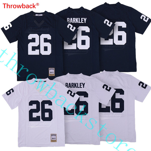 the best attitude aa646 4670a 2019 26 Saquon Barkley Jersey No Name Navy Blue White College Football  Jerseys Stitched S XXXL From Throwbackstore, $38.58 | DHgate.Com