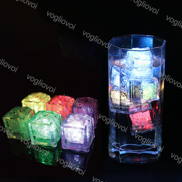 best selling Night Lights LED Ice Cubes Bar Fast Slow Flash Auto Changing Crystal Cube Water-Actived Colorful For Romantic Party Wedding Xmas Gift DHL