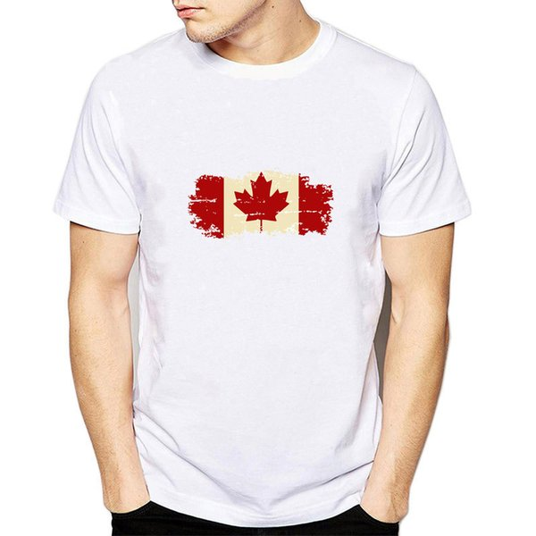Canada t shirt Country flag scrawl short sleeve gown tops National banner unisex tees Fastness print clothing Pure color modal tshirt