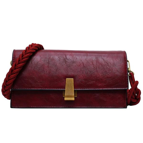 Femme Vintage Fashion Square Sac 2019 Nouveau en cuir de haute qualité Designer femmes sac à main de verrouillage épaule Messenger Bag Sacs à main