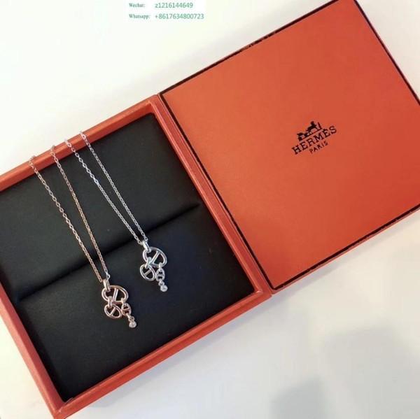 Coeur Out Pendentif Collier Bling Cristal Strass Amour Charme Or Argent Chaîne De La Mode Pour Les Femmes Bijoux