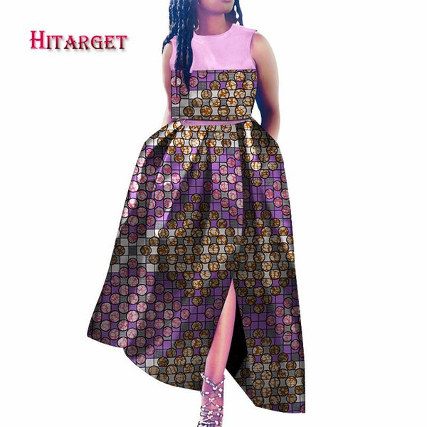 african dresses for women dashiki bazin riche style femme african clothes graceful lady print wax plus size party dress WY3595