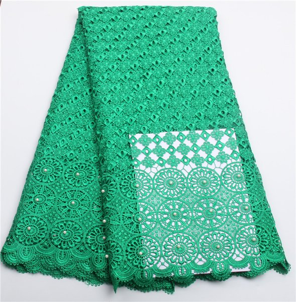 High quality african Water Green cord lace fabric 2016 latest african guipure lace.nigeria guipure fabric for party NA216B-1