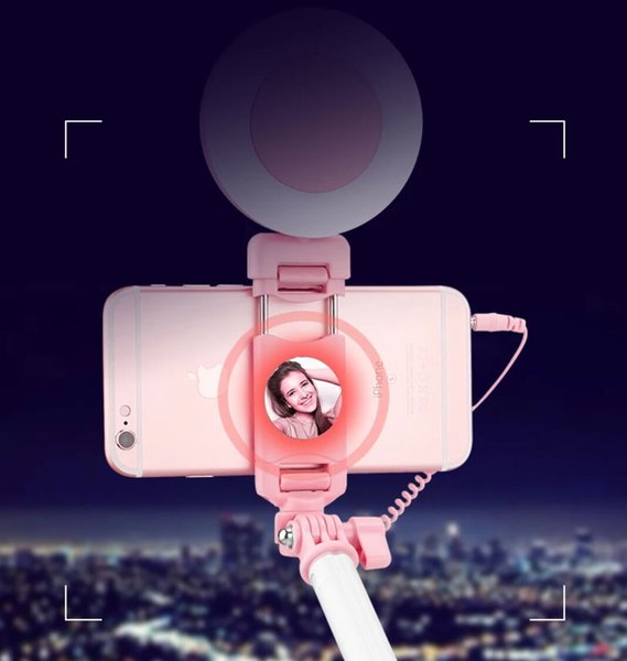 Mobile Phone Selfie Stick Mini Tripod Bluetooth All-in-one Bracket Shake Sound Web Celebrity Live Anti-shake And Light Supplement Selfie Sti