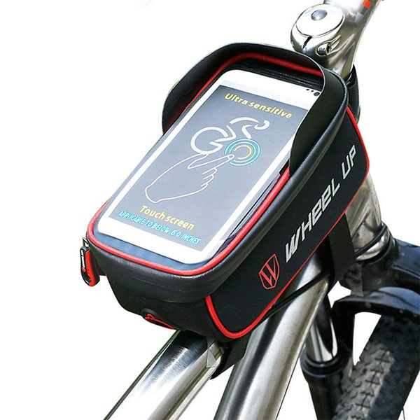 6.0 Inch Bike Bag Rainproof Front Zipper MTB Mountain Cycling TPU Touch Screen Phone Bags GPS Cycling Bag Holder For The Phone