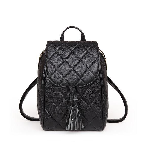Brand genuine leather shoulder bag Korean version college fringed fringe head layer cowhide small fragrance bag