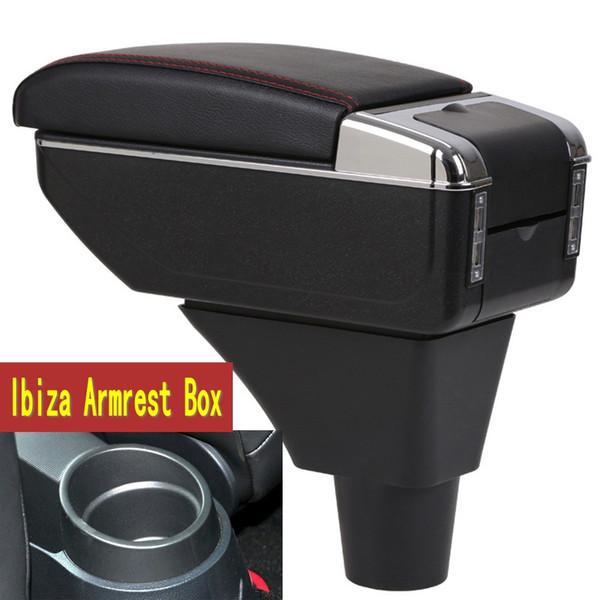 Seat ibiza kolçak kutusu merkezi Mağaza içeriği Saklama kutusu Bardaklık küllük USB arabirimine sahip koltuk kolçaklığı