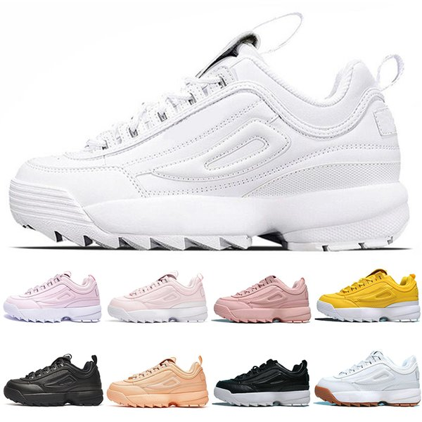 top quality Designer Disruptors Triple white black pink Women men special section sports sneaker increased Jogging running shoes EUR 36-44 F